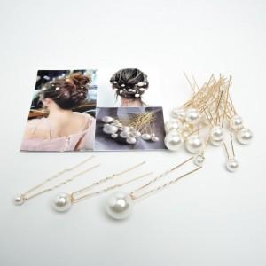 """Шпильки з перлами """"Wild Pearls"""" 18 шт. (д. 7 см.) 5-9867"""