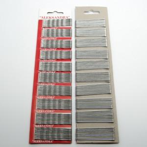 """Невидимки """"нержавіюча сталь"""" 100 шт. (д. 5.5 см.) 5-7553"""