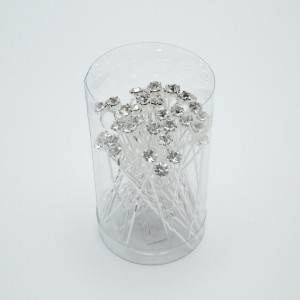 Шпильки з камінням (6.3 х 0.6 см.) 90668