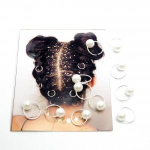 Пірсинг для волосся 12 шт. (1.4 х 1.7 см.) 6-0292