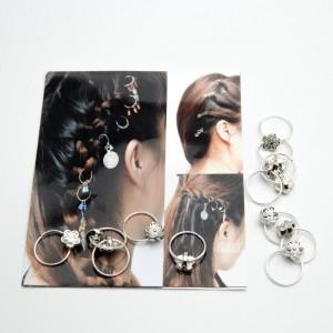 Пірсинг для волосся 12 шт. (1.8 х 1.4 см.) 5-7446