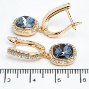 """Сережки XUPING Gold """"темно-синій"""" 511691"""