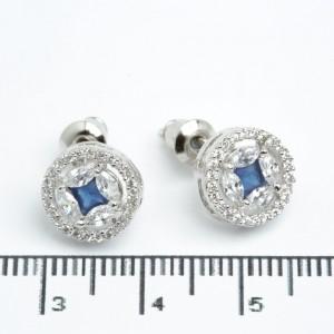 """Сережки XUPING Silver """"синий"""" (Ø 1 см.) 511540"""