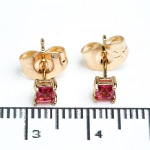 """Сережки XUPING Gold """"малиновий"""" (Ø 0.4 см.) 511958"""