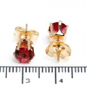 """Сережки XUPING Gold """"малиновий"""" (Ø 0.6 см.) 511956"""