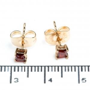 """Сережки XUPING Gold """"червоний"""" (Ø 0.3 см.) 511947"""