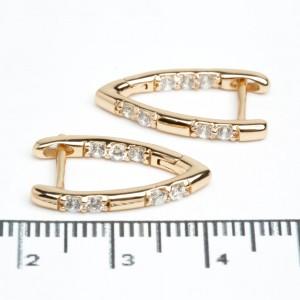 """Сережки XUPING Gold """"2 х 0.2 см."""" 511792"""