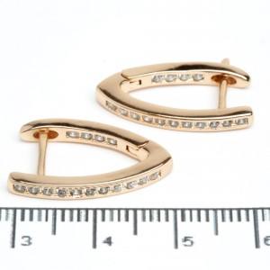 """Сережки XUPING Gold """"2.1 х 0.2 см."""" 511791"""