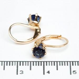 """Сережки XUPING Gold """"синій"""" 511790"""