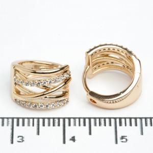 "Сережки XUPING Gold ""Ø 1.3 см."" 511784"
