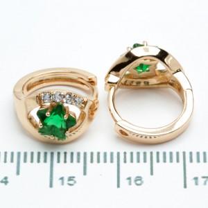 """Сережки XUPING Gold """"зелений"""" 511133"""