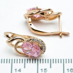 """Сережки XUPING Gold """"розовий"""" 511130"""