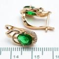 """Сережки XUPING Gold """"зелений"""" 511128"""