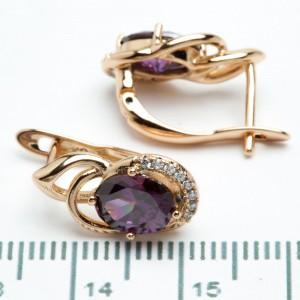 """Сережки XUPING Gold """"фіолетовий"""" 511126"""