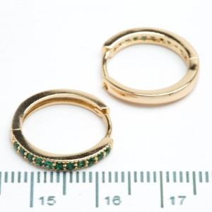 """Сережки XUPING Gold """"зелений"""" 511125"""