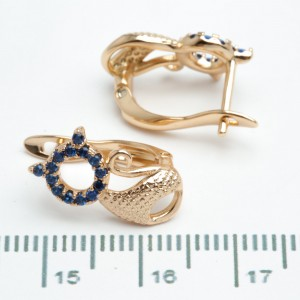 """Сережки XUPING Gold """"синій"""" 511009"""