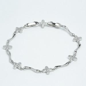 Браслет XUPING Silver (17.5 + 1.6 х 0.7 см.) 205648