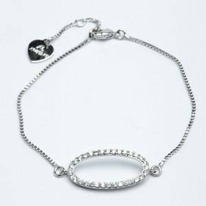 Браслет XUPING Silver (17.2 + 2.5 см.) 205325