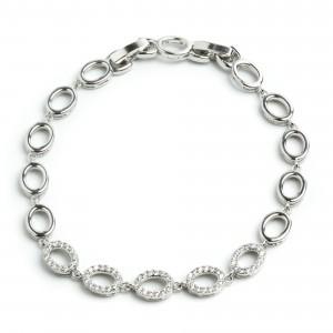 Браслет XUPING Silver (18.5 + 2 х 0.7 см.) 205131