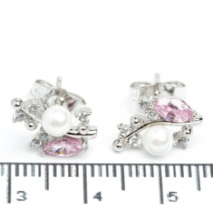Сережки XUPING Silver (розовий) 205602