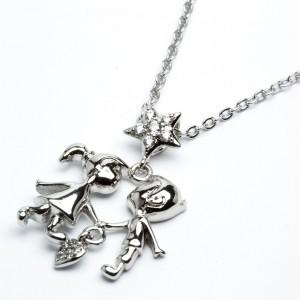 Цепочки з кулоном XUPING Silver (45 + 5 x 0.2 см.) 205302